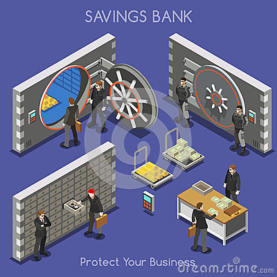 Free Bank Office 01 People Isometric Royalty Free Stock Photography - 58667537