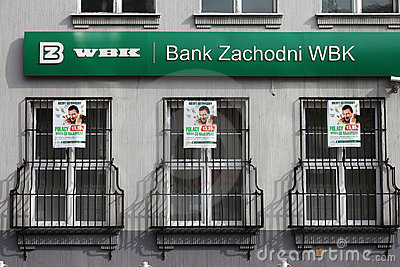 Bank in Poland Editorial Stock Photo