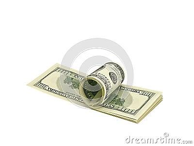 Bank Roll of Hundred Dollar Bills