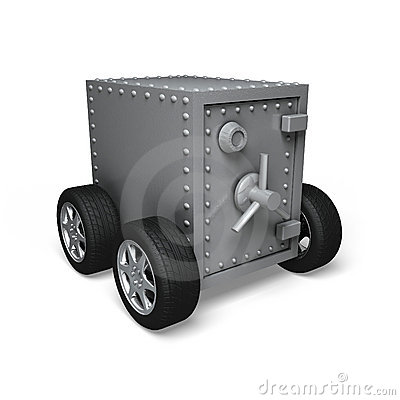 Bank safe on wheels