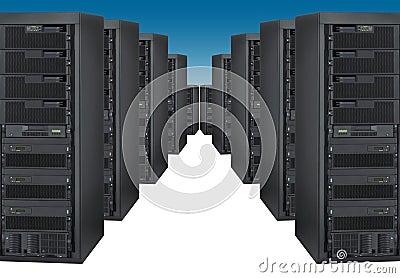 Bank of servers