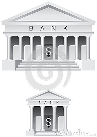 Bank symbol and icon