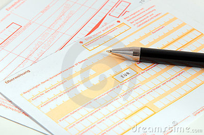 Bank transfer forms