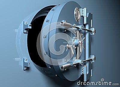 Bank Vault with round door