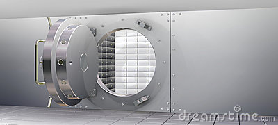 Bank Vault and Safety Deposit Boxes