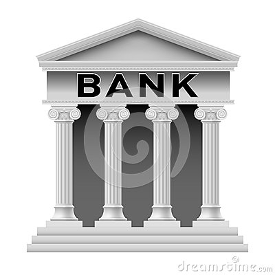 Banka budynku symbol