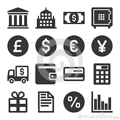 Free Banking And Finance Icons Set. Vector Stock Image - 88427181