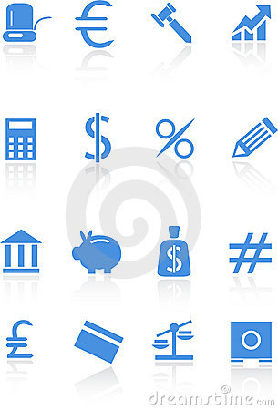 Banking Buttons - Light Blue Stock Photos - Image: 9292603