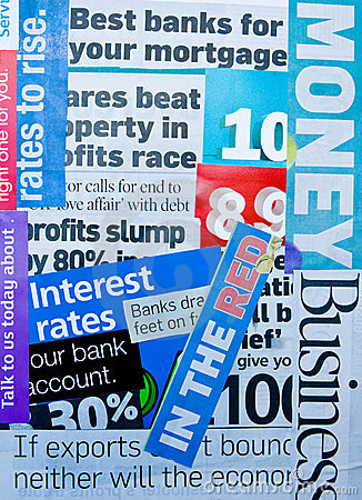 Banking and finance: newspaper cuttings.