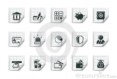 Banking icons |Sticky series