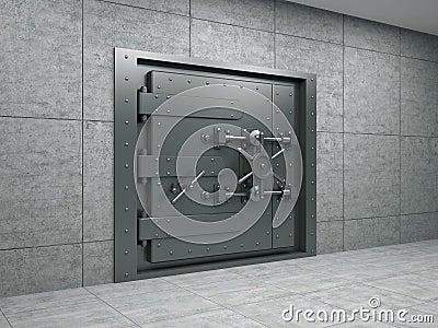 Banking metallic door