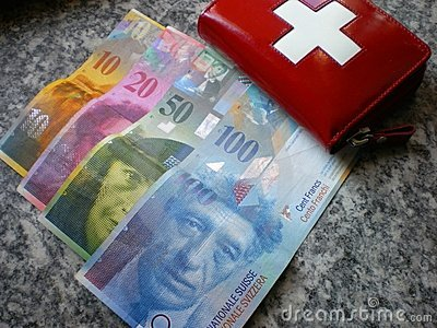 Banking Swiss francs money