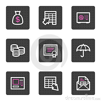 Banking video web icons