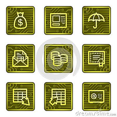 Banking web icons, electronics card series