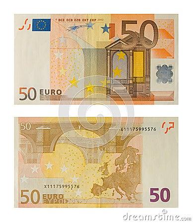 Banknote 50 euro
