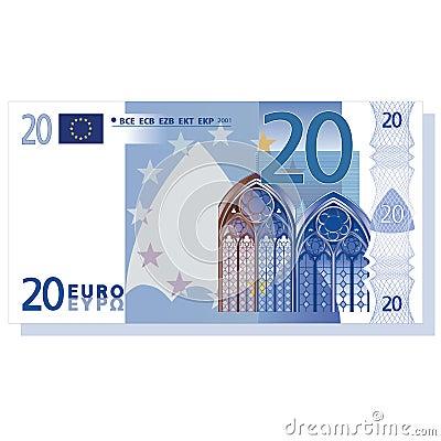 Banknote des Euro 20