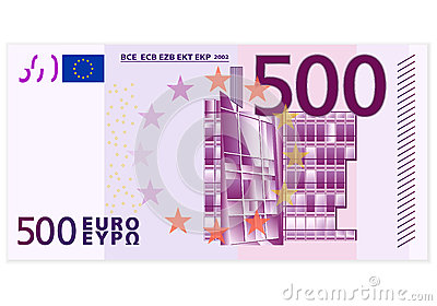 Banknote des Euros fünfhundert
