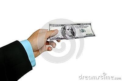 Banknote handover
