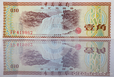 Banknotes from China