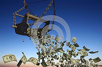 Banknotes of dollars