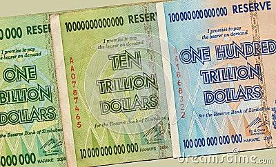Banknotes - Hyper Inflation - Zimbabwe