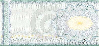 Banknotu świadectwa talonowy prezenta alegat
