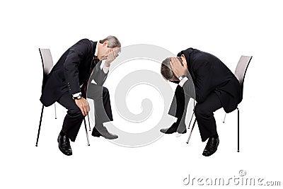 Bankrupt de los hombres de negocios