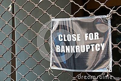 Bankrupt store