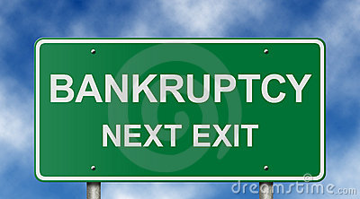 Bankruptcy Next Exit Sign