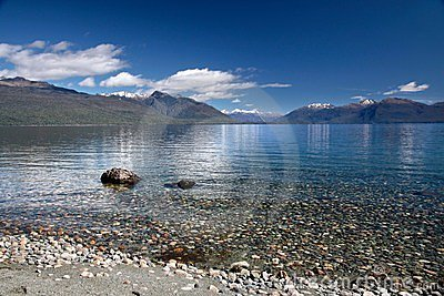 Banks of the Lake Te Anau, New Zealand