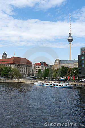 On the banks of the Spree. Berlin.