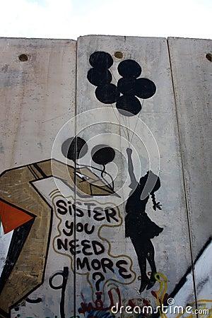 Aufgebaut durch israelischen zustand um sie von der west bank in