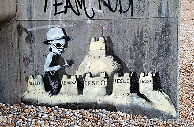 Banksy mural, St.Leonards Editorial Stock Photo