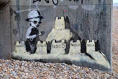 Banksy mural, St.Leonards Editorial Stock Image