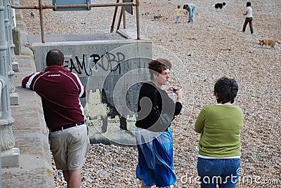 Banksy mural, St.Leonards Editorial Stock Photo