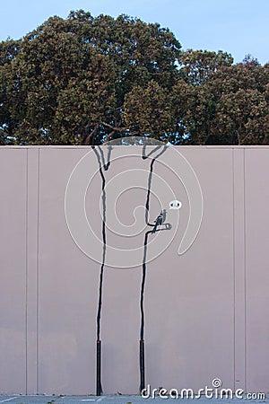Banksy s graffiti Editorial Photo