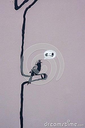 Free Banksy S Graffiti Stock Image - 23271691