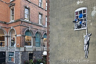 Banksy s Graffiti in Bristol Editorial Photography