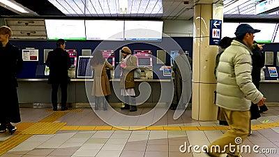 Banlieusards ? la station japonaise de m?tro clips vidéos