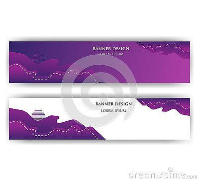 Banner with abstract design. The image can be used to design a banne Vector Illustration