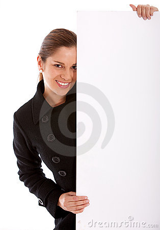 Banner ad woman