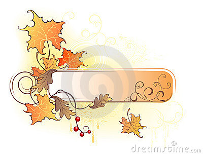 Banner with the autumn leaves