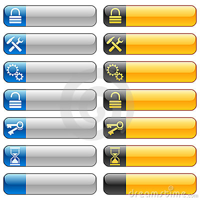 Banner buttons with web icons 7