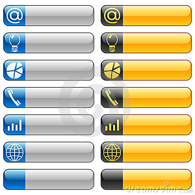 Free Banner Buttons With Web Icons 6 Royalty Free Stock Photography - 8270057