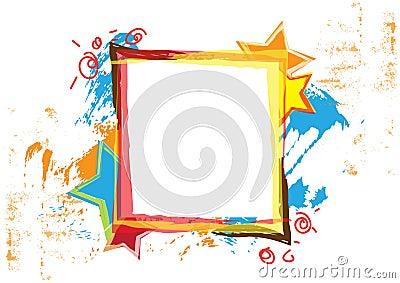Banner design with grunge