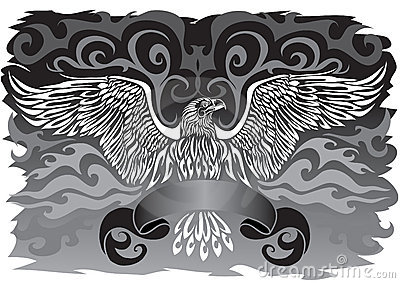 Banner with an eagle