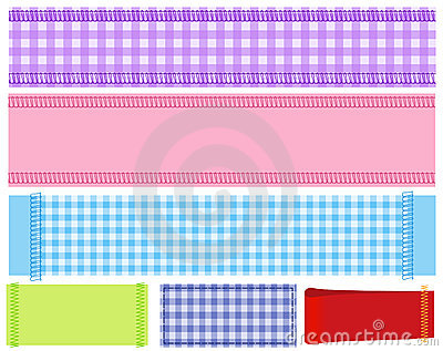 Banner Of  Fabric Stock Images - Image: 22014334