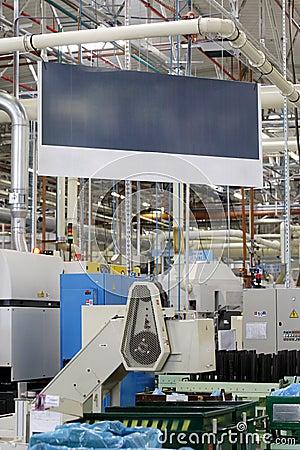 Banner in factory