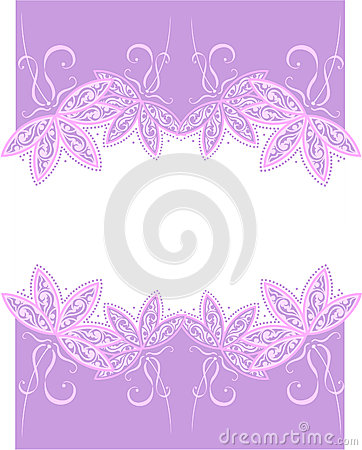 Banner with floral designs on white background
