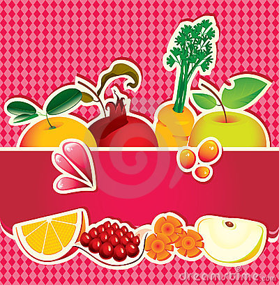 Banner for fruit juice